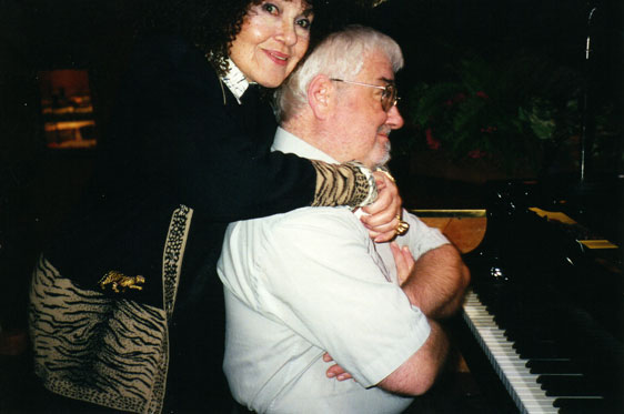 John Horler with Cleo Laine